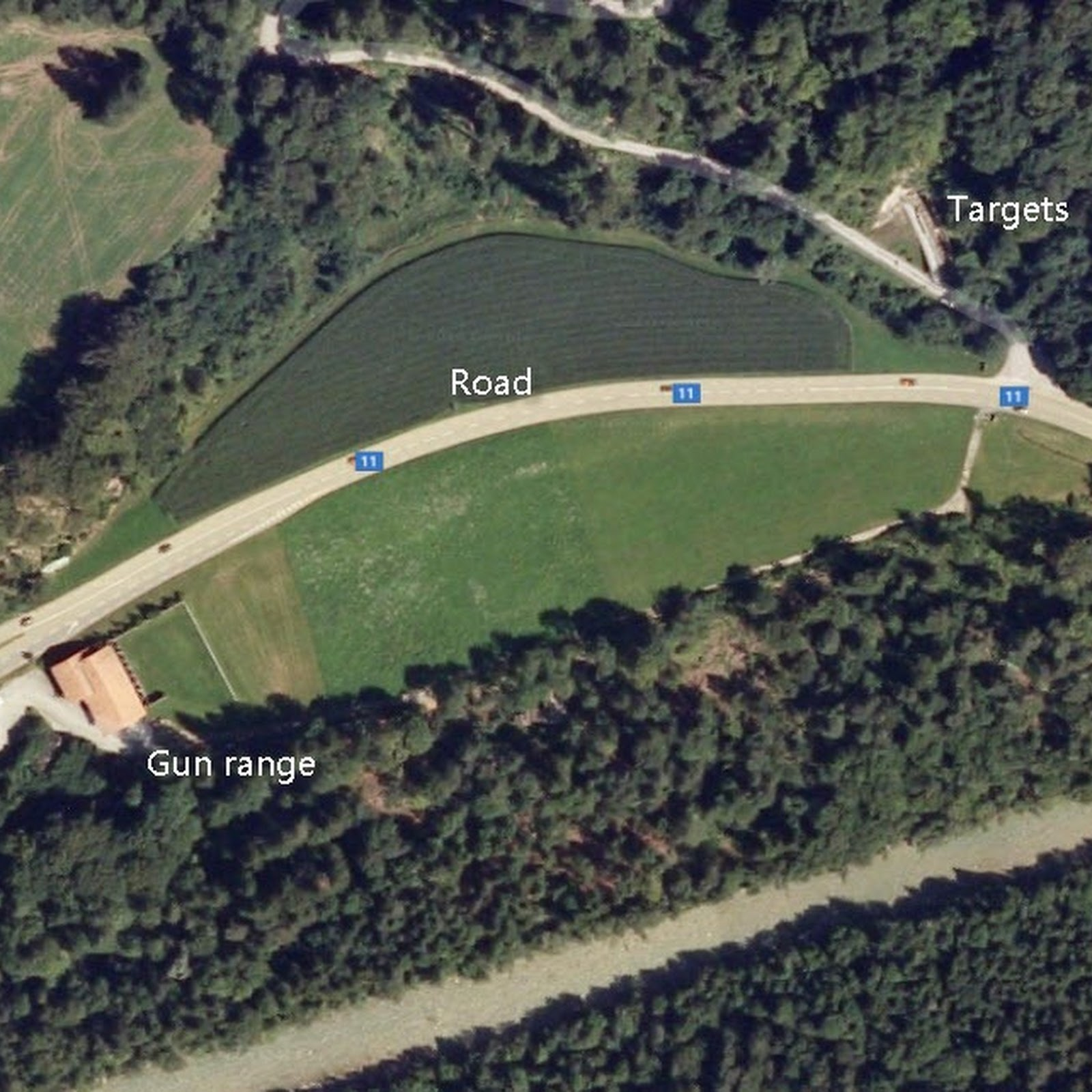 This Shooting Range in Switzerland Has A Road Going Through