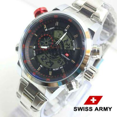 Swiss army Double time silver list merah
