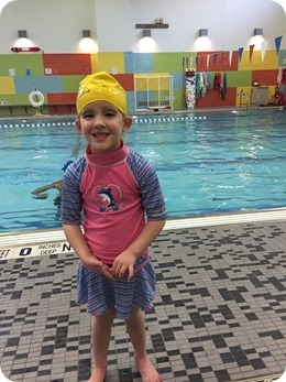 Liberty at swim lessons