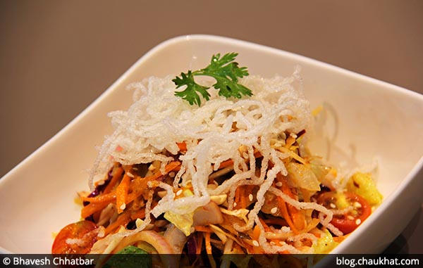 Asian Crunch Salad served at 212 All Day Cafe & Bar at Phoenix Marketcity in Pune