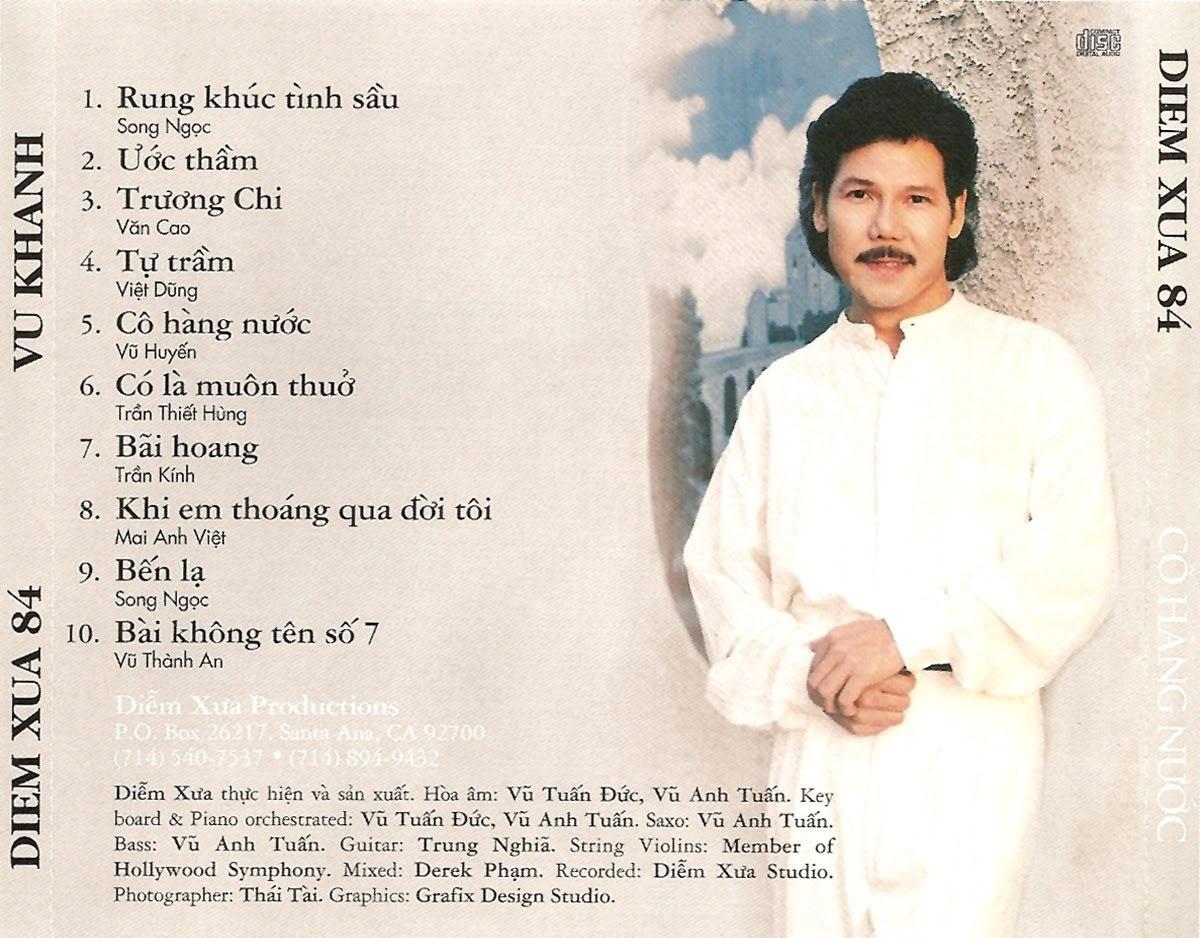 Album: Tuyển chọn các ca khúc do ca sĩ Vũ Khanh thể hiện gồm 10 bài, với  các nhạc phẩm như: Rung Khúc Tình Sầu, Ước Thầm, Trương Chi, Tự Trầm, ...
