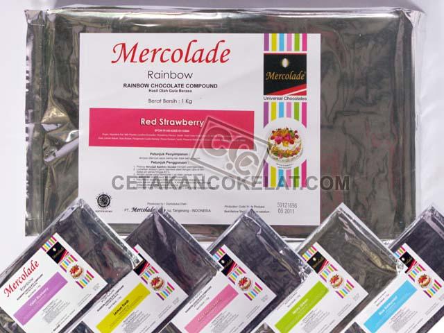Coklat Mercolade Warna Cokelat rainbow compound bahan blok batangan kiloan