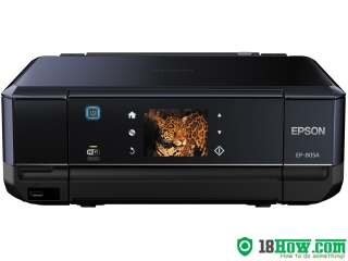 How to Reset Epson EP-805A inkjet printer – Reset flashing lights error