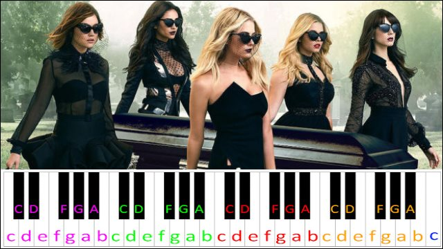 Pretty Little Liars Theme Song ~ Piano Letter Notes