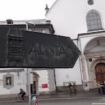 altstad sign in Innsbruck, Tirol, Austria