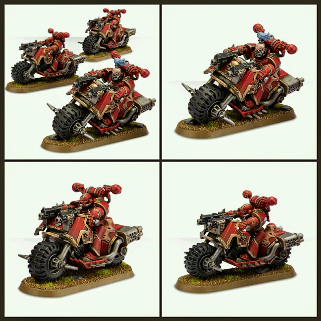 Motos Marines Espaciales del Caos Games Workshop