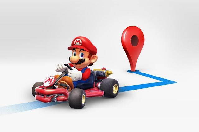 Koneknesia Blog - Memunculkan Mario Kart Di Aplikasi Google Maps