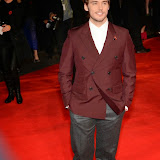 WWW.ENTSIMAGES.COM -   Sam Claflin    at      The Hunger Games - Mockingjay - part 1 - UK film premiere at Odeon Leicester Square, London November 10th 2014Premiere of latest film in the Hunger Games franchise, which this time sees Katniss lead a rebellion against the tyrannical and corrupt Capitol.                                              Photo Mobis Photos/OIC 0203 174 1069