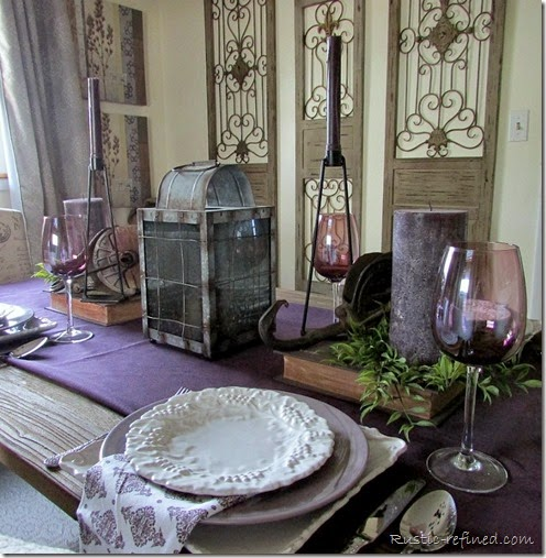 Country Purple Tablescape