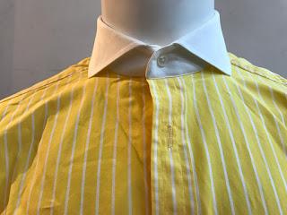 Ralph Lauren Purple Label Striped Yellow Shirt