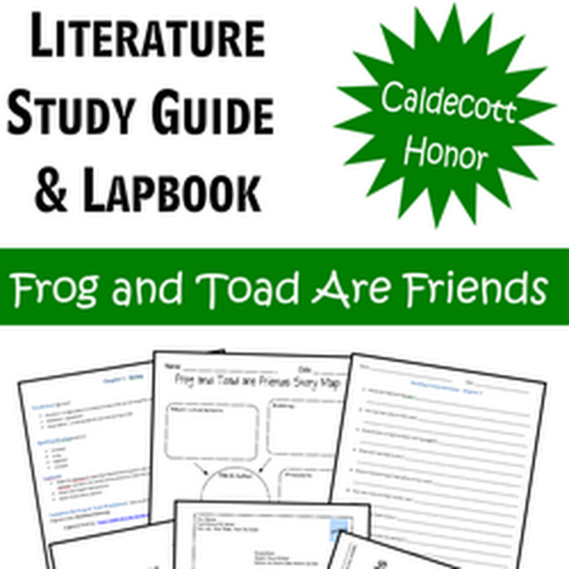 123 Homeschool 4 Me: Literature Study Guide & Lapbook: Frog and Toad Are Friends
