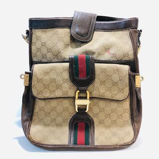 Gucci Vintage Monogram Convertible Shoulder Bag