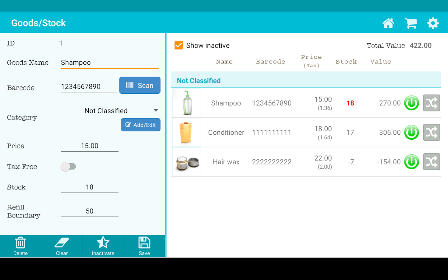 TapPOS Inventry Sales manager- screenshot