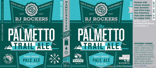 RJ Rockers - Palmetto Trail Ale, Bellringer & Brown Eyed Squirrel Cans