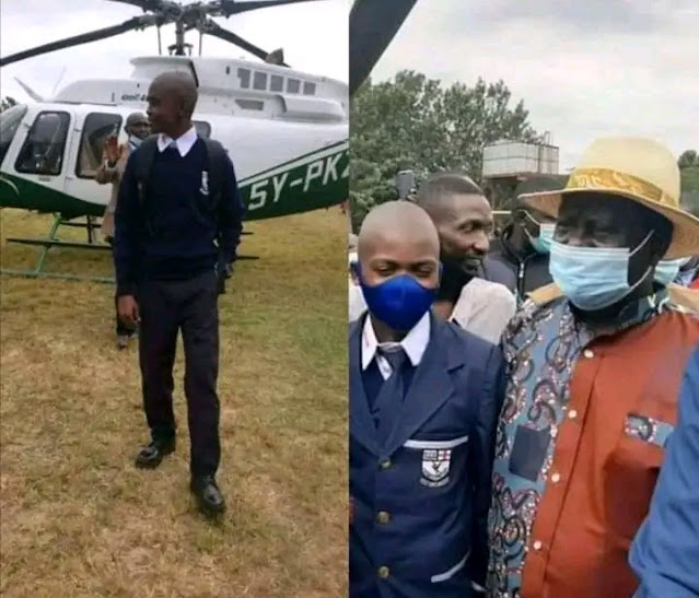 reported to Maranda High School onboard a chopper photo