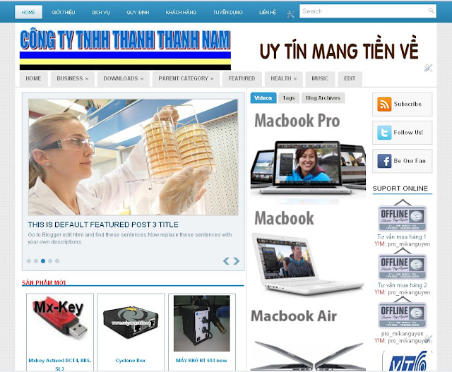 Dự án thiết kế website doanh nghiệp số 02