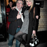 WWW.ENTSIMAGES.COM -  Michael Hogben and Nancy Sorrell  at    HOT VALVE LEAK: Visual Ramblings of Vic Reeves - private view at The Strand Gallery  London February 12th 2013                                                   Photo Mobis Photos/OIC 0203 174 1069