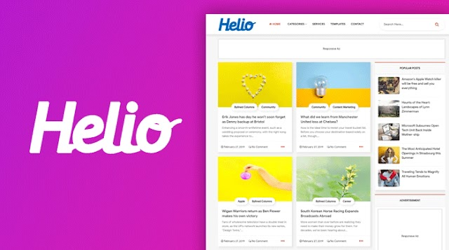 Helio - Grid Style Blogger Template