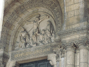 Tympanum above main entrance to Sacre Coeur.