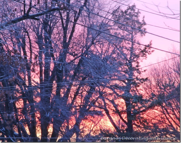 Winter Sunset-Bargain Decorating with Laurie