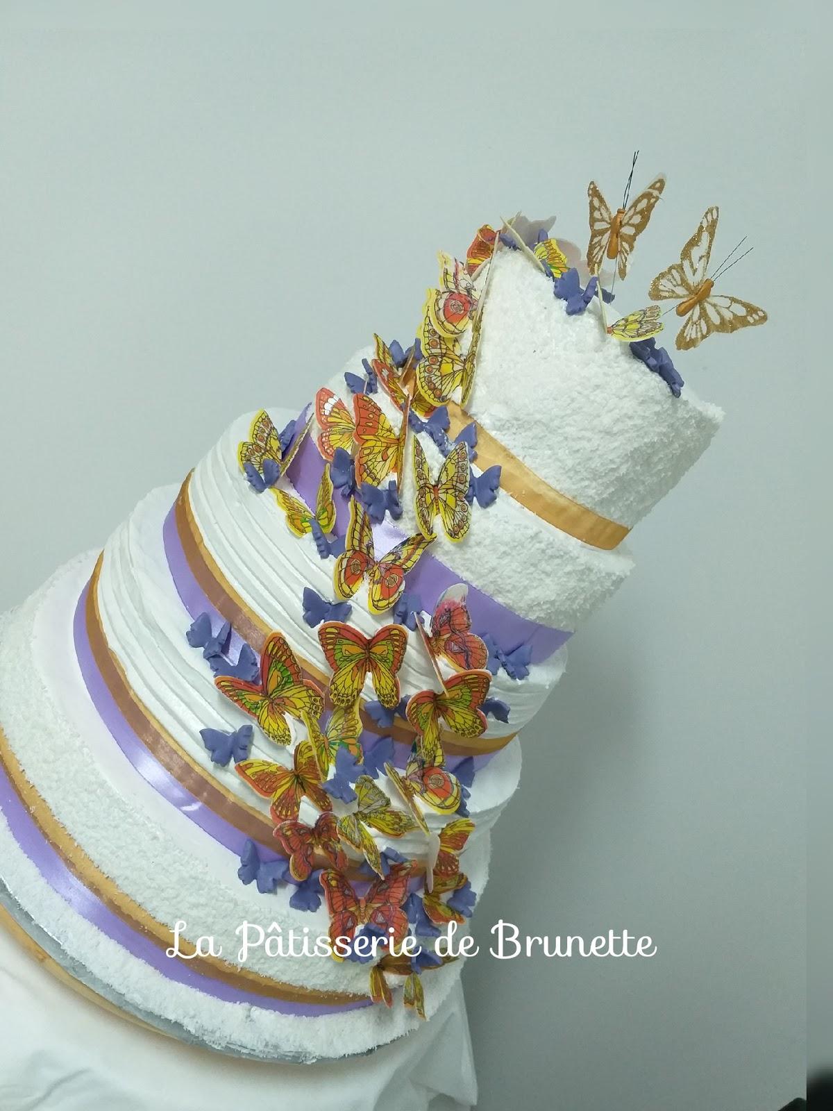 La Patisserie De Brunette Gateau De Mariage Theme Papillons