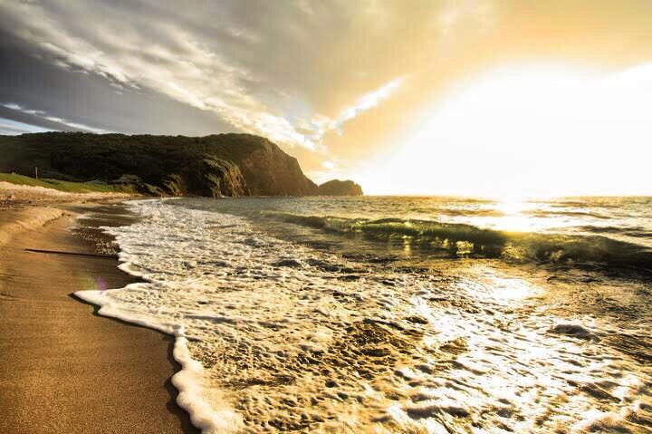 天ヶ原海水浴場(あまがはら)の朝日