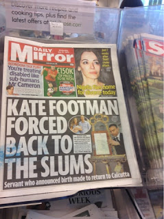 Front page of the Daily Mirror from 31st July 2013