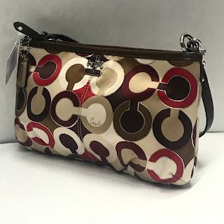 Coach NEW Monogram Satin Handbag