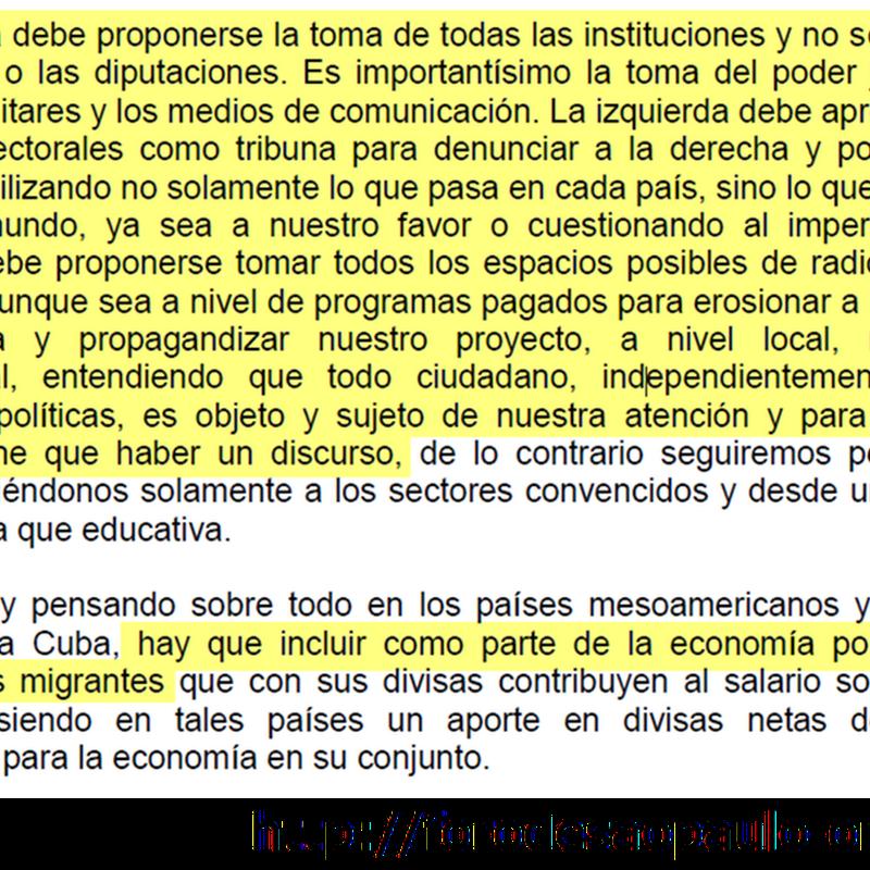 La conspiración de la izquierda y el Foro de Sao Paulo.