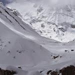 Breaking trail to Annapurna Base Camp
