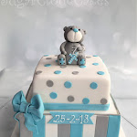 Grey teddy christening cake 1.JPG
