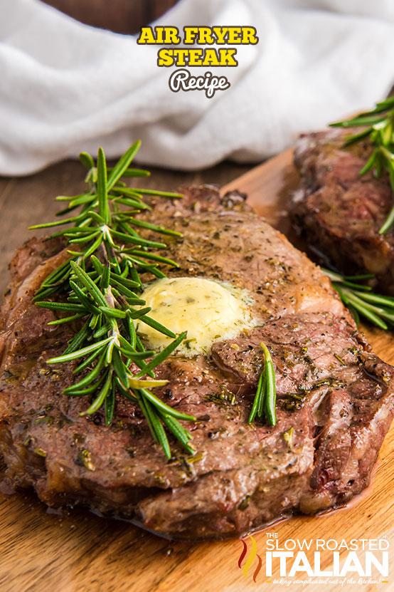 air fryer steak on cutting board