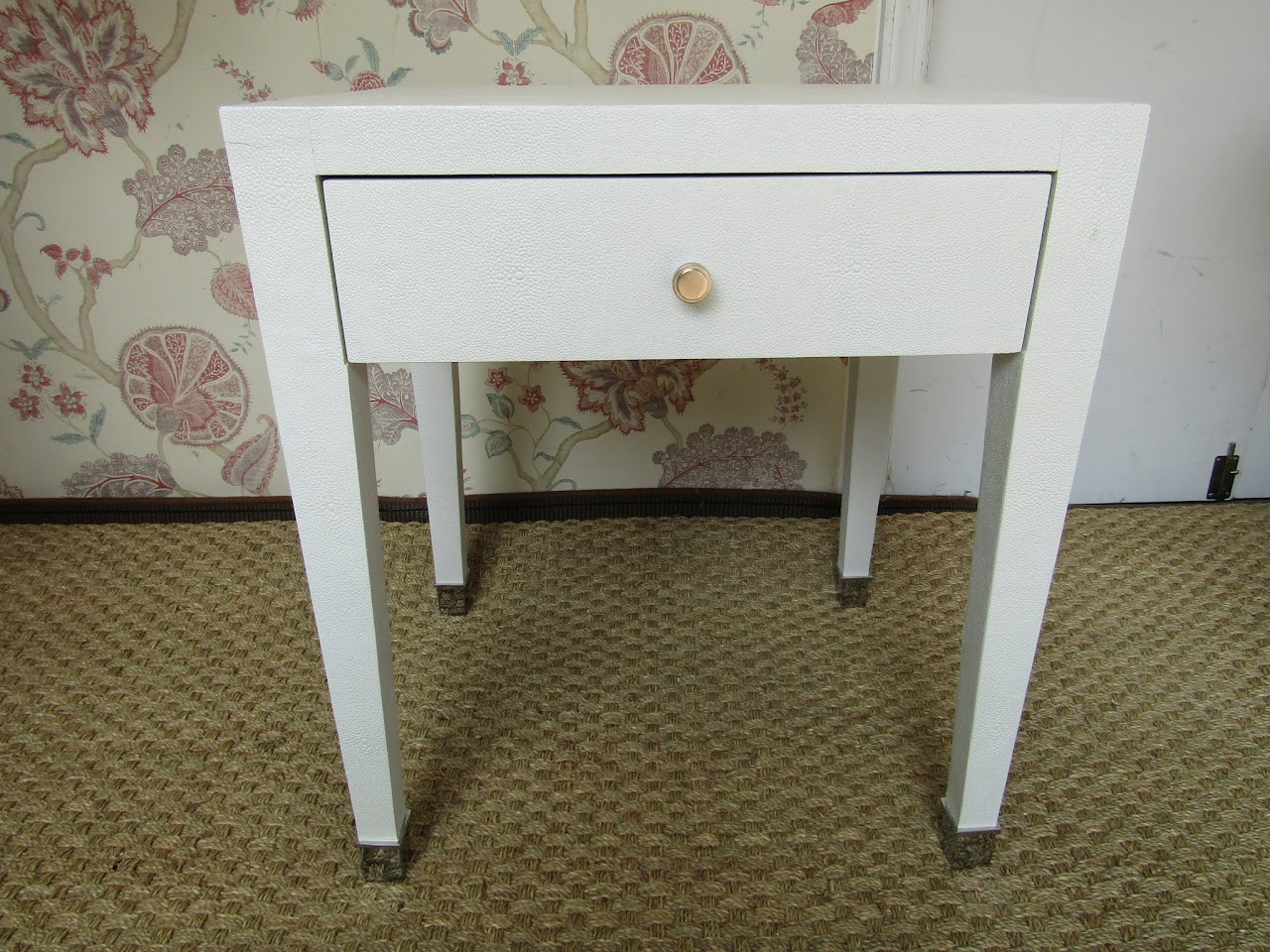 Faux Shagreen End Table