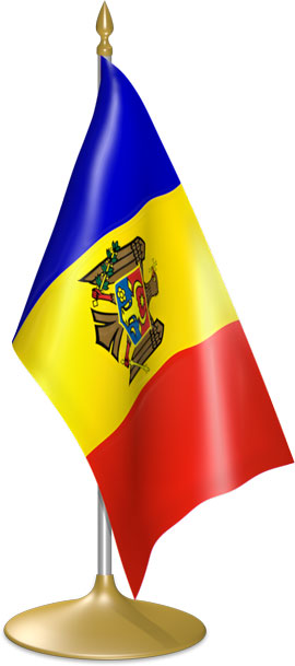 Moldovan table flags - desk flags