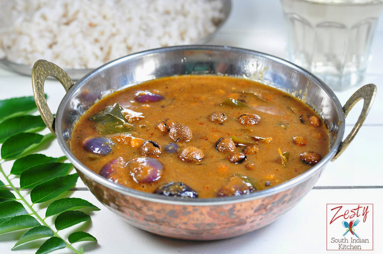 Vathal kuzhambu: Spicy Tamarind Gravy with Turkey Berry