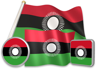 Malawian flag animated gif collection