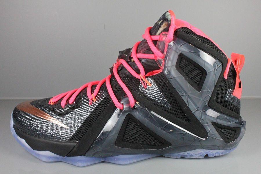 Nike LeBron 12 Elite Rose Gold Black White Hot lava Red