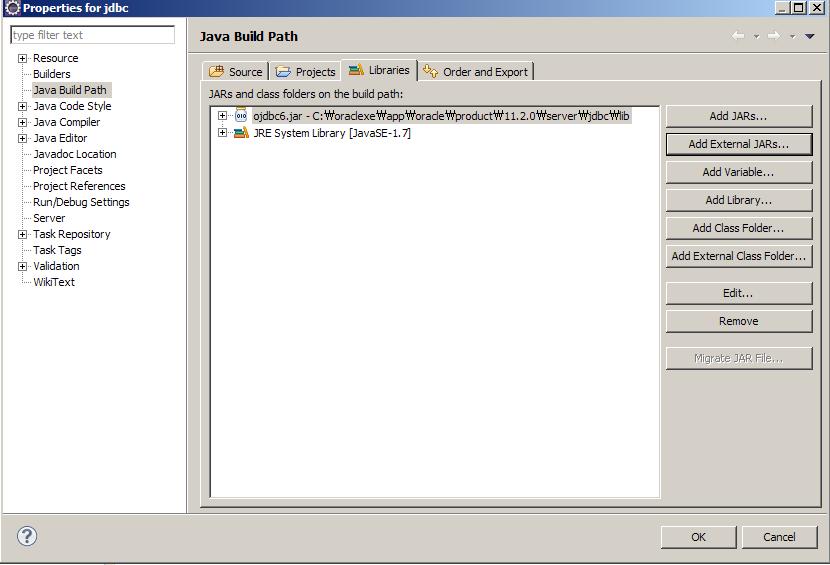 Oracle JDBC Test