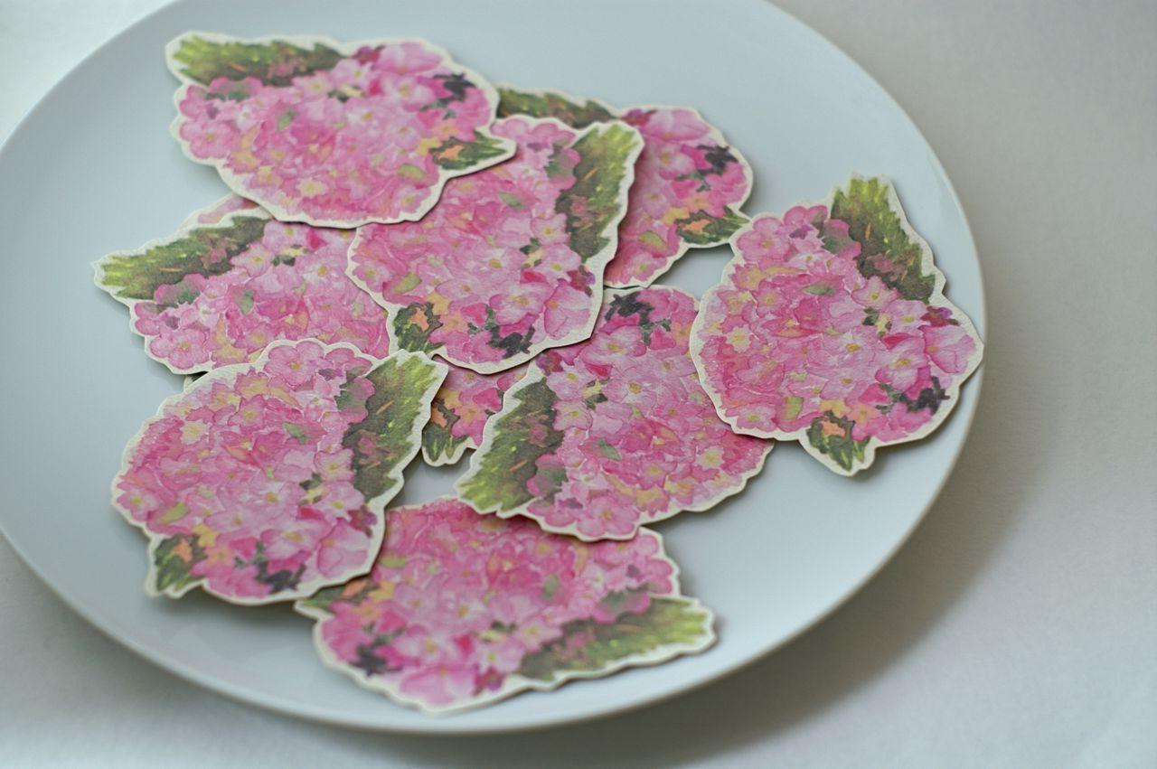 Pink Hydrangea Prints - Place cards, wishing tree, wedding decoration,