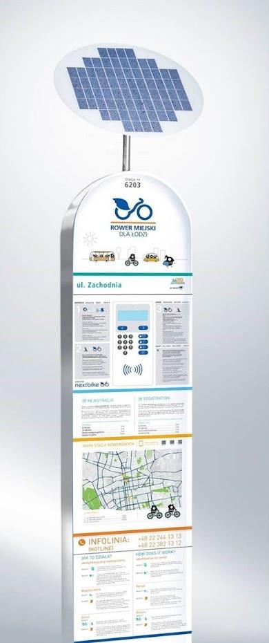 Przykładowa stacja roweru publicznego