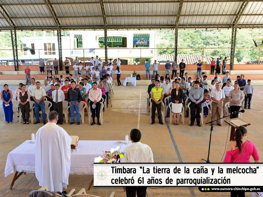 """TIMBARA """"LA TIERRA DE LA CAÑA Y LA MELCOCHA"""" CELEBRÓ 61 AÑOS DE PARROQUIALIZACIÓN"""