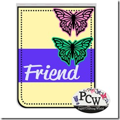 pcw friend butterfly card 450