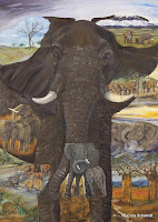 'Elephant-Totem', oil on canvas, 55x39 inches, 2008