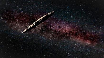 ilustração do 'Oumuamua