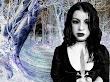 Dark Winter Angel With Knife