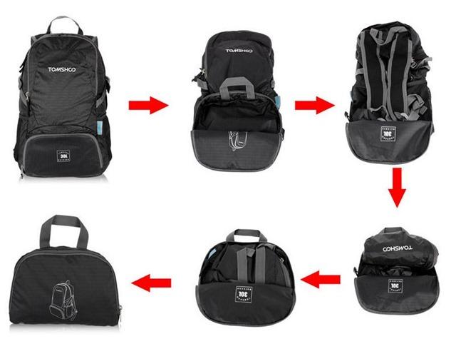 tas ransel lipat - foldable backpack