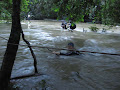 The Paku crossing in flood conditions; not for the fainthearted | photo © Andy Eavis