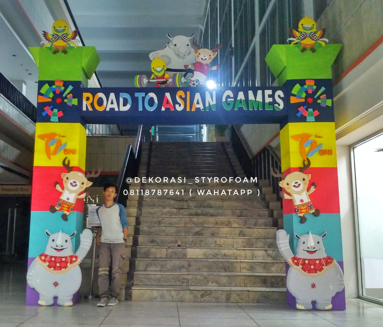 gapura Asian games Styrofoam
