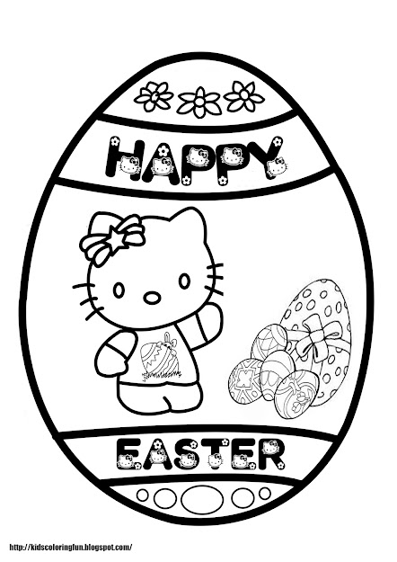 Hello Kitty Easter Coloring Page Hello Kitty Easter Coloring Pages For Free  Printable