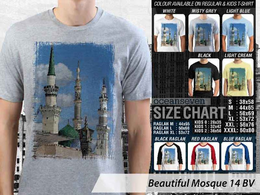 Kaos Muslim Islam Beautiful Mosque 14 distro ocean seven
